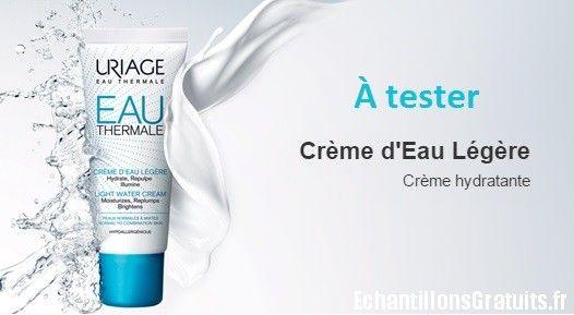 100 soins visage Crème d'Eau Uriage à tester   Echantillons gratuits, réductions et cadeaux