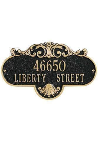Rochelle Two-Line Estate Wall Address Plaque - estate/two line, Black by Home Decorators Collection. $107.00. Rochelle Two-Line Estate Wall Address Plaque - It's Your Own Little Corner Of The World - So Why Not Mark It With Pride? A House Sign Announces A Message Of Distinction. These Premium, Textured And Dimensional Address Plaques Are Designed With Large Letters And Numbers For Maximum Visibility. Choose From Our Exceptional Array Of Custom Address Plaques To Find T...