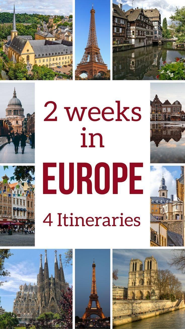 Europe Travel: planifique su viaje con estas 4 sugerencias detalladas de itinerario para di …
