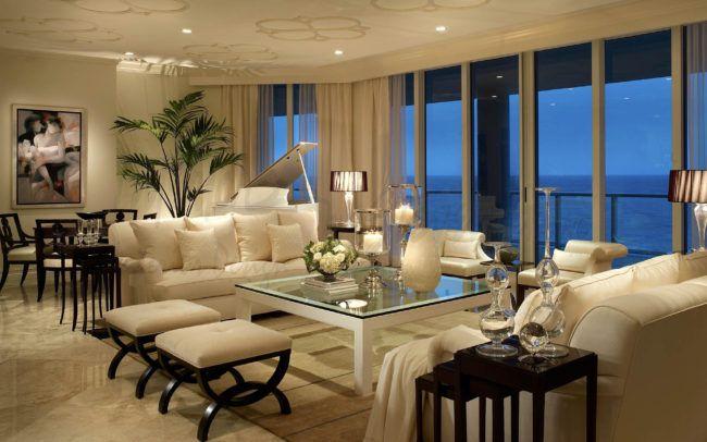 Traditional Ritz Carlton Residences Interiors By Steven G Luxury Living Room Elegant Living Room Design Elegant Living Room