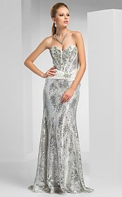 Sheath/Column Sweetheart Floor-length Sequined Evening Dress – USD $ 247.49