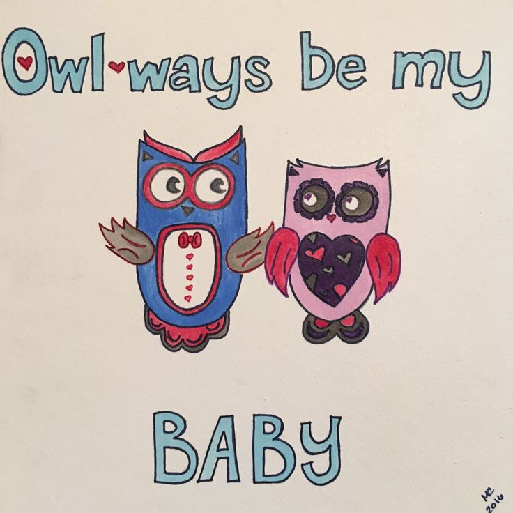 Just a rainy afternoon watercolor to brighten the day. #owlwaysbemybaby #maxspunnypaintings #etsy #pun #lyrics #owl #illustration