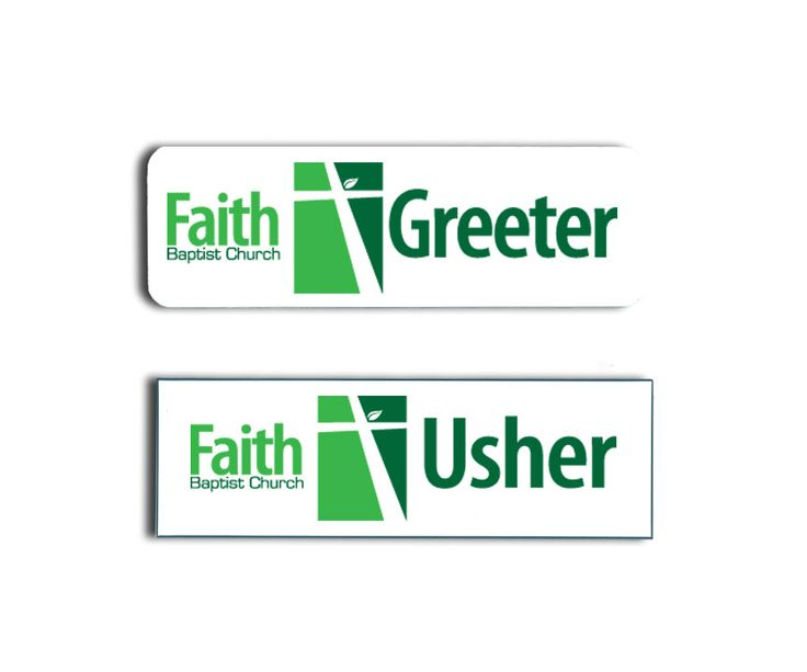 Faith Baptist Greeter and Usher Name Tags Badges Name Badges - sample greeter resume