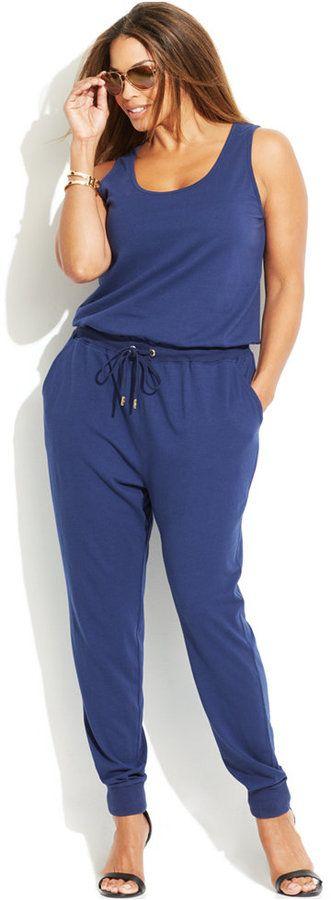 Plus Size Drawstring Jumpsuit