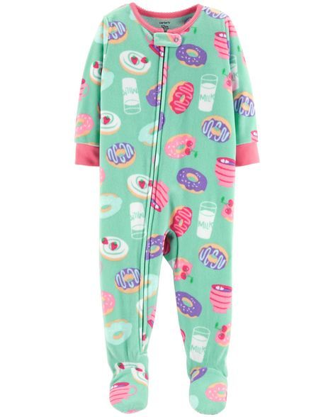 62ec6fc61 1-Piece Donut Fleece PJs