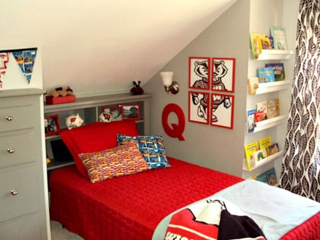 Hutch to Headboard Boy Room Makeover
