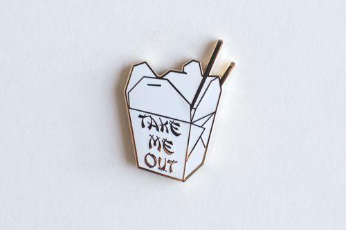 chinese food enamel pin // I'm loving pins rn