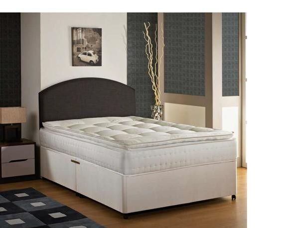 2ft 6 Waldorf Pillow Top Small Single Divan Bed