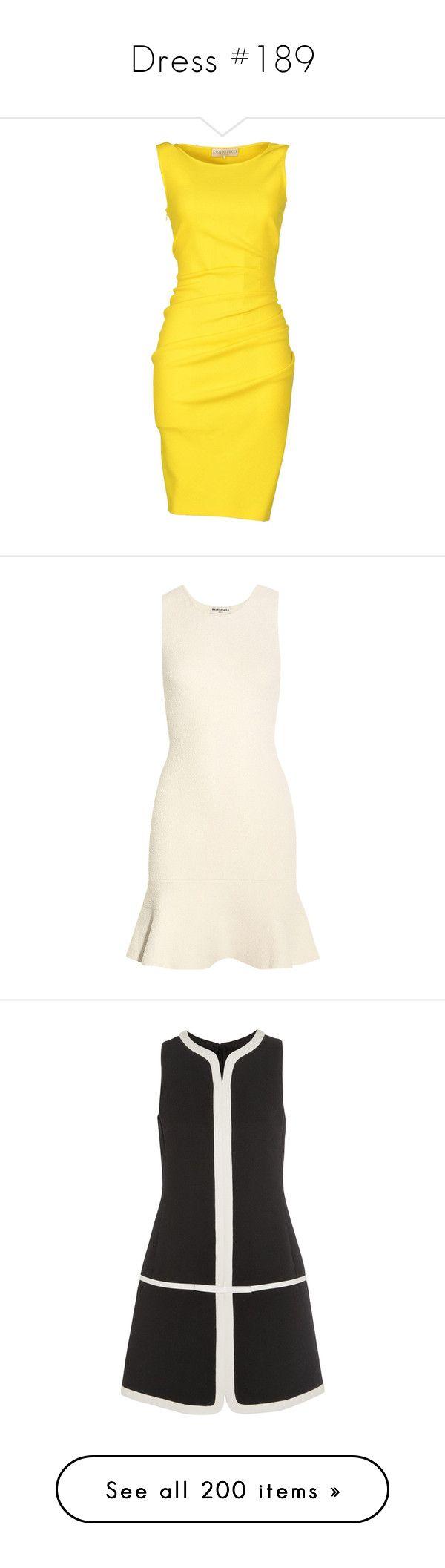 """Dress #189"" by bliznec-anna ❤ liked on Polyvore featuring dresses, vestidos, yellow, short dresses, knee-length dresses, emilio pucci dress, stretch dress, mini dress, white and stretch mini dress"
