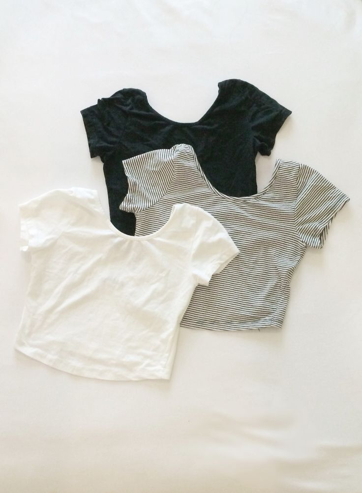Crop Top - I'd Never Wear Them By Themselves but Layered Underneath Something to Emulate an Undershirt.
