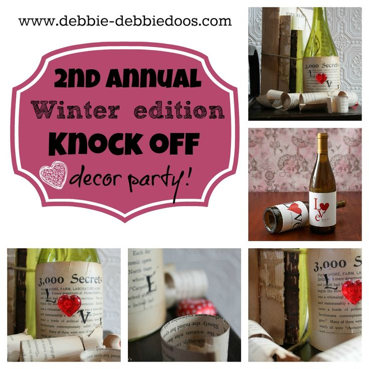 2nd annual knock off decor winter edition. 20 + ideas and counting...