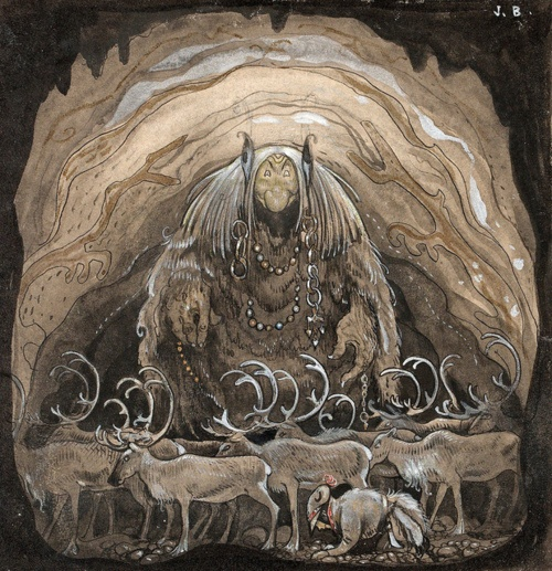 John Bauer fairytale illustration; I do not know which fairytale this is…