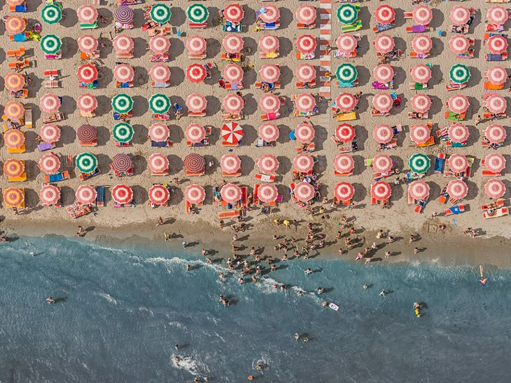 Italy's Summer Beaches Look Even More Beautiful From Above.. looks like a lolypop