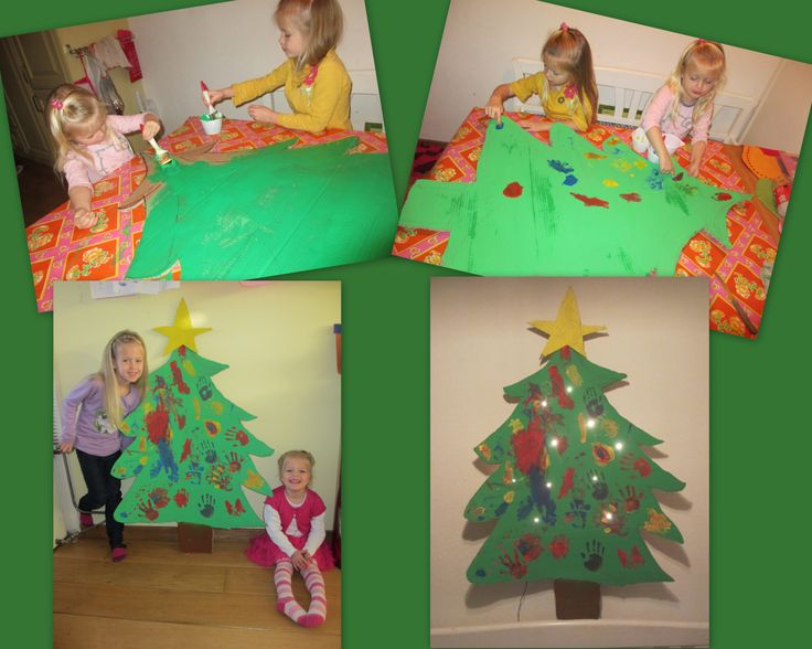The girls made there own Christmas tree!