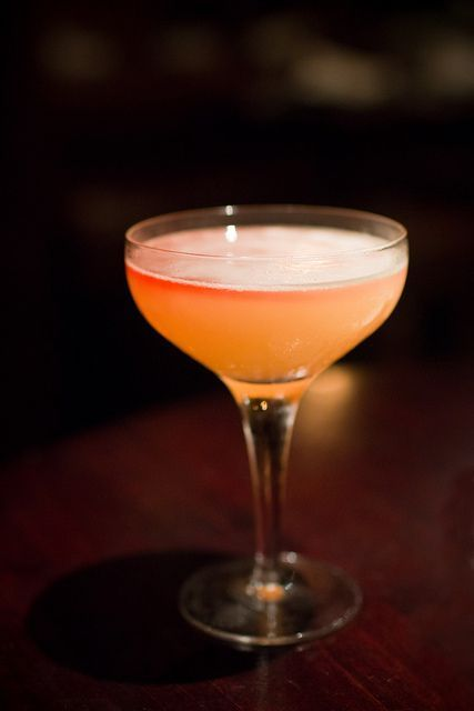 Ninth Ward: Bourbon, Elderflower Liqueur, Lime Juice, Falernum, Peychaud's Bitters, Orange Zest.