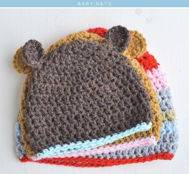 Baby Hat Crochet Patterns- so cute!