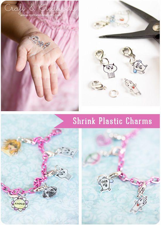 Berlocker av krympplast – Shrink plastic charms | Craft & Creativity – Pyssel & DIY