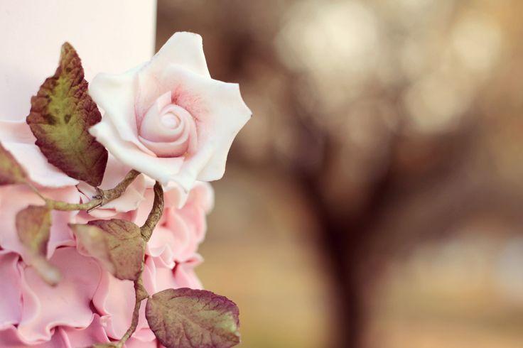 Pink Wedding Cake   #cake #weddingcake #ledouxcollage #fondant #vintagewedding #sugarflower #sugarcraft  Contact Us ledouxcollage@gmail.com www.facebook.com/ledouxcollage