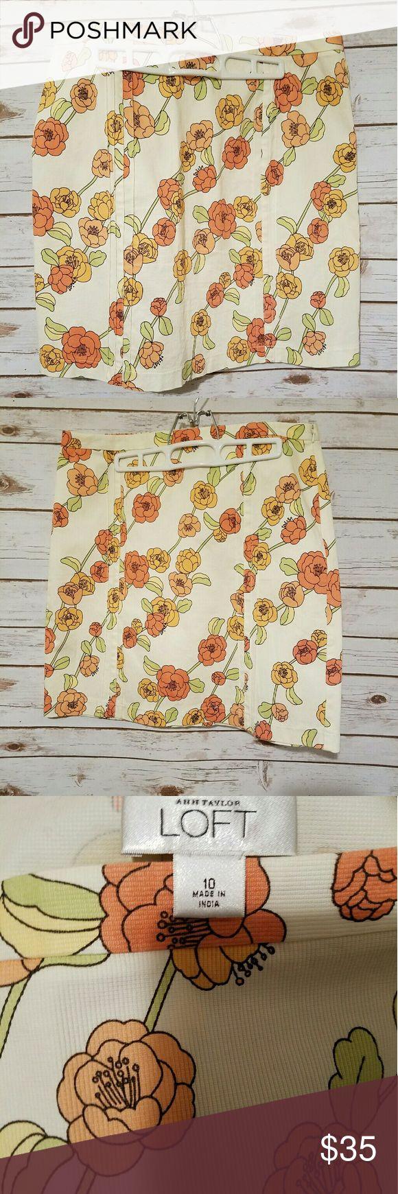 Anne Taylor Loft skirt Floral pattern pencil skirt Ann Taylor Skirts Pencil