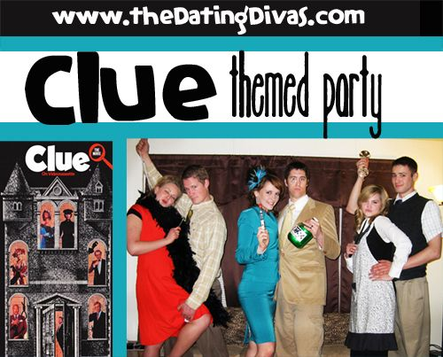 Looking for a fun costume party idea?  This one's perfect for Halloween!  www.TheDatingDivas.com #costumeparty #datingdivas #clueparty