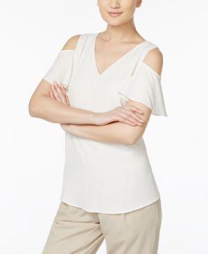 Calvin Klein Cold-Shoulder Top - White XS
