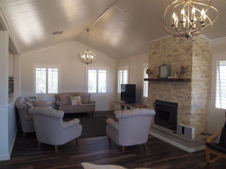 Living room Hampton style in one of our transportable homes