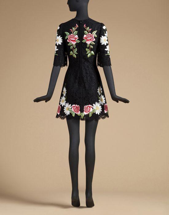 ROBE TRAPÈZE EN DENTELLE BRODÉE - Robes courtes - Dolce&Gabbana - Été 2016