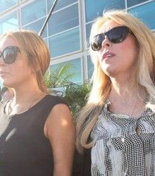 Lindsay Lohan with mother