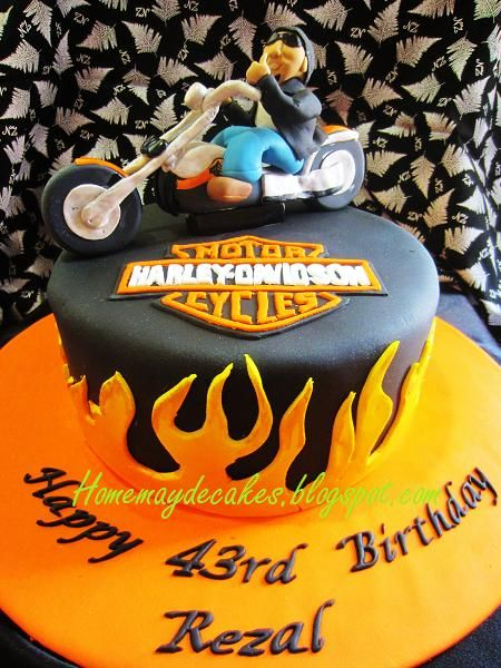 Home May'de Cakes: The Making: Harley Davidson Dude Cake
