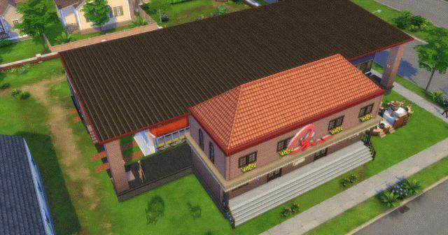 この連休にやりこんでいるSims4。昨日今日かけて作った家。  駅舎風のマイホーム。庭には住むこともできる…