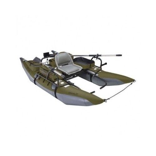 Inflatable pontoon boat 9 39 trout fishing gear river raft for Inflatable pontoon boat fishing