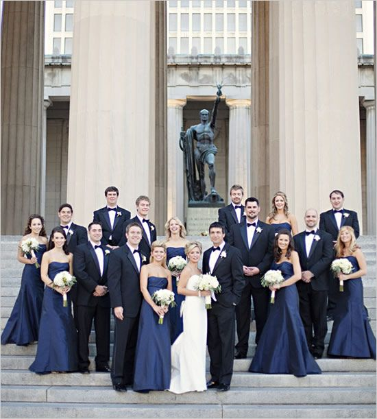 Tennessee black tie wedding by kristyn hogan dress black for Blue and black wedding dresses