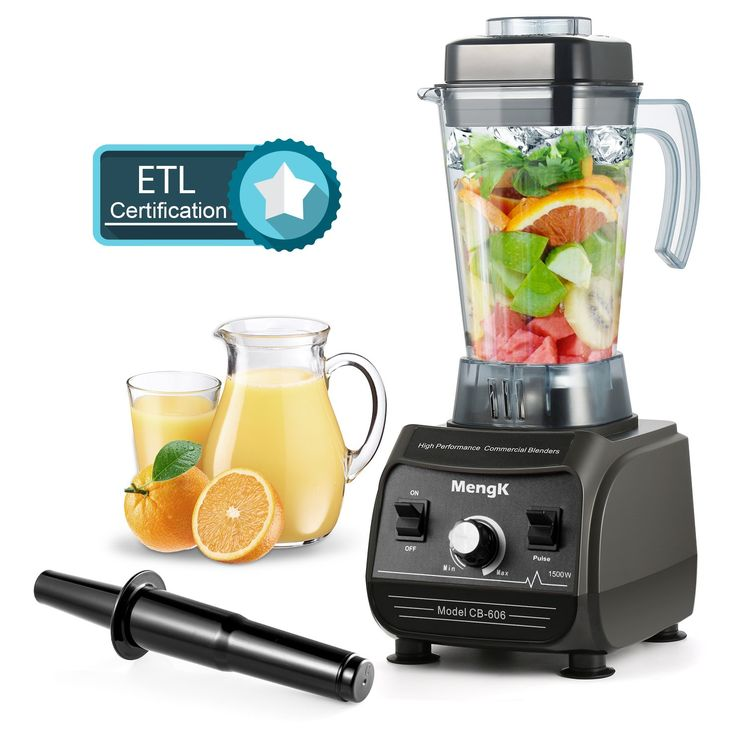 Professional Blender MengK 1500W High Speed Electric Total Nutrition Food Processors with 67oz BPA-Free Pitcher for Ice Fruits Vegetables Smoothies Soups Mayonnaise, etc - (Commercial / Kitchen)