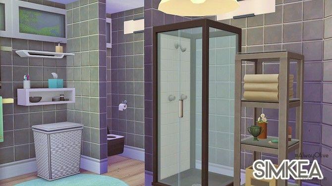 Mod ensuite bathroom at simkea via sims 4 updates sims 4 for Bathroom ideas sims 4