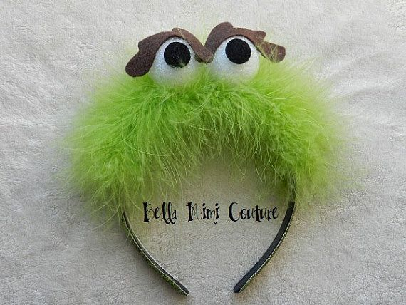 Sesame Street Oscar the Grouch Headband by BellaMimiCouture, $14.50