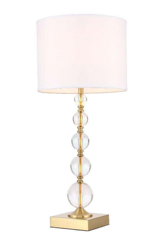 Erte 1 Light Brass Table Lamp Elegant Lighting Tl3027br Crystal Table Lamps Brass Table Lamps Clear Table Lamp