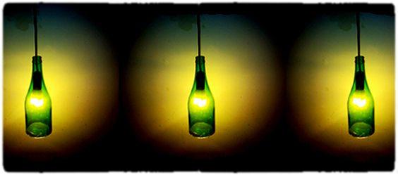 Tutorial per costruire lampade con bottiglie di vetro | bigodino.it