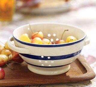 Ceramic Stripe Colander - traditional - colanders and strainers - by Pottery Barn