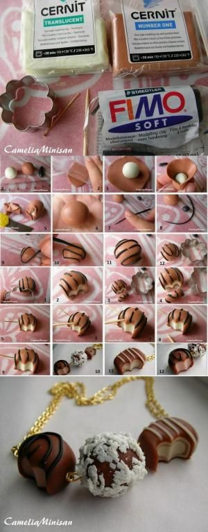 Fimo Chocolate Necklace