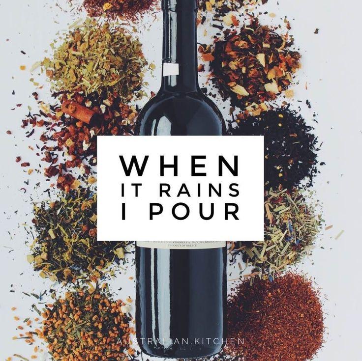 Wine jokes - when it rains, I pour