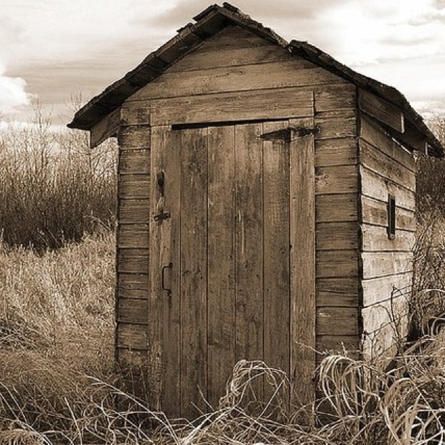 how to clean an outhouse