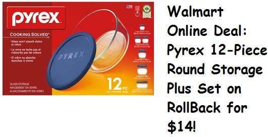Pyrex Food Storage set just $14!    http://www.groceryshopforfreeatthemart.com/2012/11/walmart-online-deal-pyrex-food-storage-set-just-14/