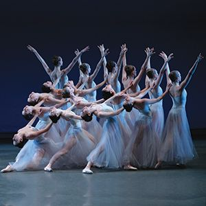 Tchaikovsky's Serenade by Balanchine - one of my favourite pieces I have ever danced in. Stunning shapes created by dancers.