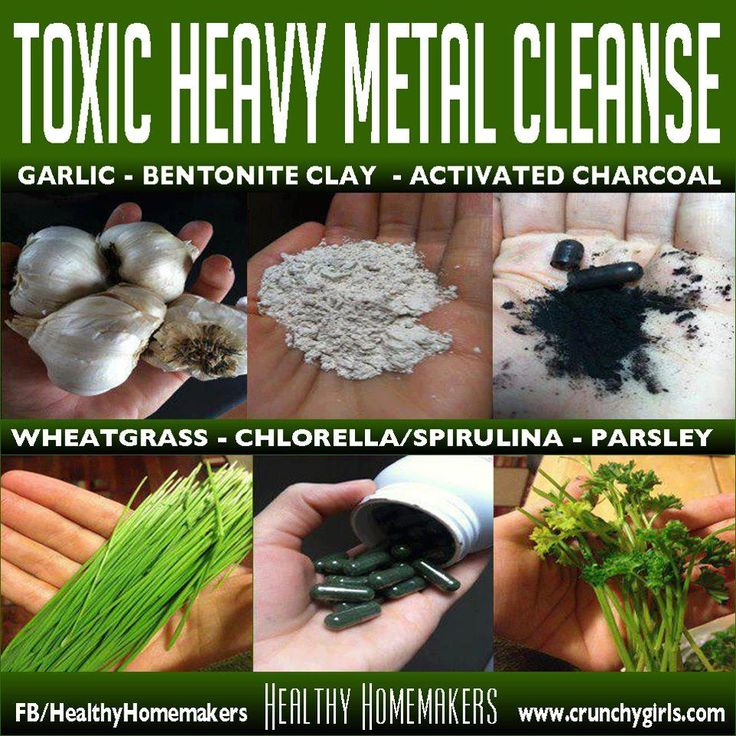 Natural ways to remove heavy metals from the body.