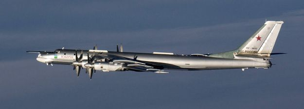 Undated photo of a Tupolev Tu-95 Bear Bomber. Russian aircraft have stepped up flights over the Baltic Sea to the country's exclave in Kalliningrad in the last week, according to a Tuesday statement from Finnish Defence Forces.  Finnish Air Force F/A-18 Hornets have intercepted and observed a variety of Russian aircraft, including Tupolev Tu-95 Bear and Tupolev Tu-22M Backfire bombers and Sukhoi Su-34 Fullback, Sukhoi Su-27 Flanker and Mikoyan MiG-31 Foxhound fighters.
