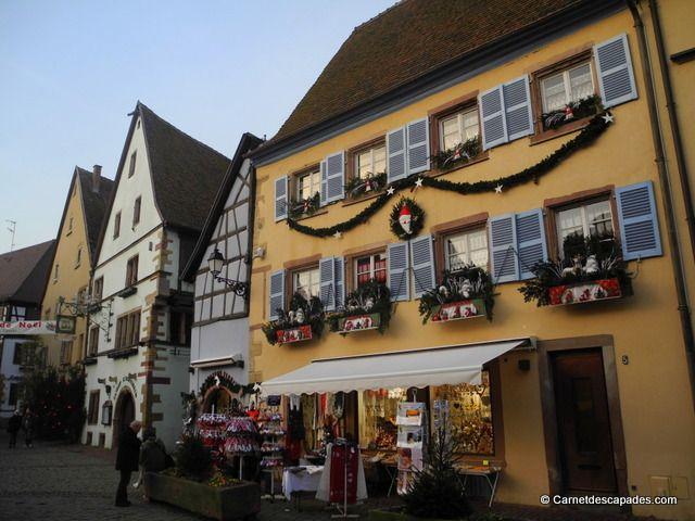 #Noël en #Alsace - Marché de Noël d'#Eguisheim