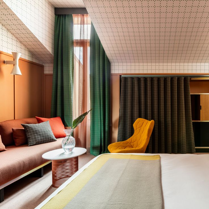 Patricia Urquiola designs colourful Milan outpost for Room Mate Hotels chain