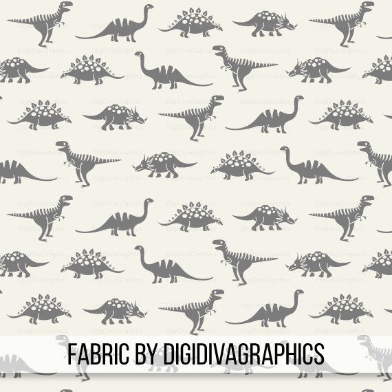 Dinosaur Days Fabric By The Yard -  Cream Gray Dino Baby Nursery Boys Quilting Print in Yard & Fat Quarter by DigiDivaGraphics on Etsy https://www.etsy.com/listing/497938668/dinosaur-days-fabric-by-the-yard-cream