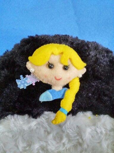 Elsa frozen hair clip