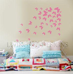 """Plantilla Decorativa """"Volar"""", con este diseño cualquier cuarto se vera hermoso. Solo necesitas tu plantilla Living Designs, pintura para paredes y un rodillo y tendras este decorado en tus muros!"""